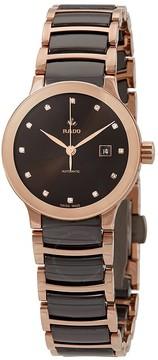Rado Centrix Automatic Diamond Brown Dial Ladies Watch