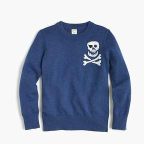 J.Crew Boys' skull-and-crossbones crewneck sweater