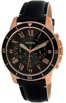 Fossil Men's Grant FS5237 Blue Leather Quartz Dress Watch