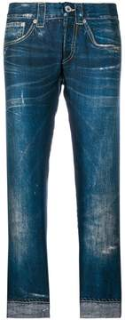 Dondup cropped trompe l'oeil trousers