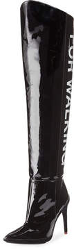 Off-White For Walking Over-the-Knee Patent Boot