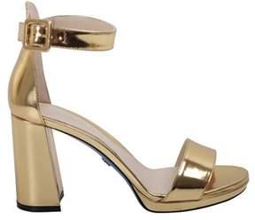 Loriblu Women's Gold Leather Sandals.