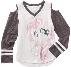 My Little Pony Cold Shoulder Raglan T-Shirt, Toddler Girls (2T-5T)