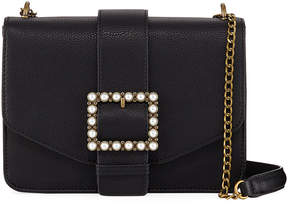 Neiman Marcus Lucy Faux-Leather Belted Crossbody Bag