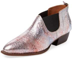 F-Troupe Women's Metallic Leather Chelsea Bootie
