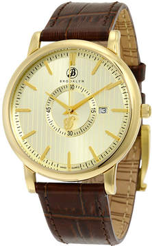 Co Brooklyn Watch Myrtle II Gold Dial Men's Watch