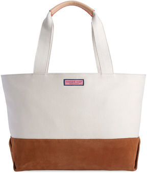 Vineyard Vines Suede Vineyard Tote
