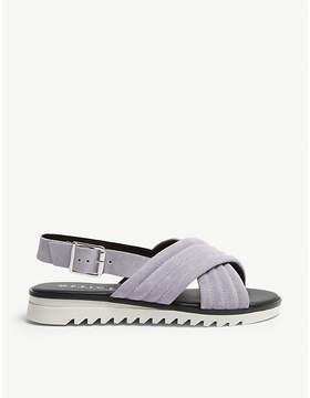Office Stellar cross-strap suede sandals