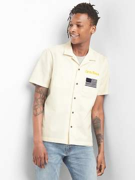 Gap Limited Edition Embroidered Short Sleeve Shirt