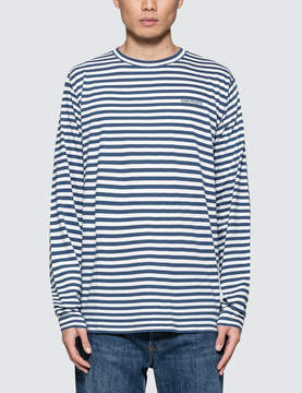 Norse Projects James Logo Stripe L/S T-Shirt