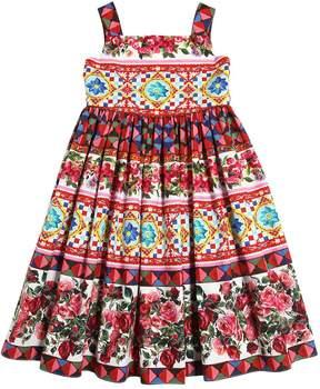 Dolce & Gabbana Mambo Print Cotton Poplin Dress