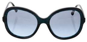 Chanel Marbled Round Sunglasses