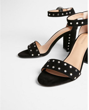 Express studded thick heeled sandals
