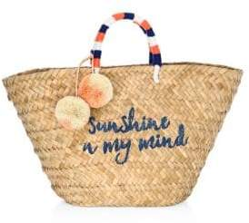 Kayu Sol Embroidered Seagrass Tote
