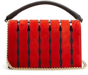 Diane von Furstenberg Soirée wave-appliqué leather cross-body bag