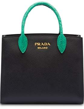 Prada Saffiano leather and crocodile bag