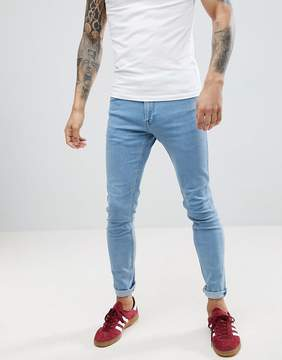 Lee Malone Power Stretch Rollin Blue Super Skinny Jean