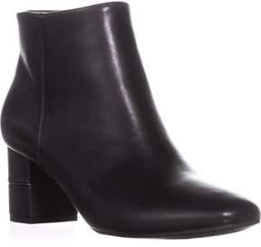 Alfani A35 Nickki Block Heel Ankle Booties, Black.