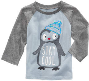 First Impressions Penguin-Print Cotton T-Shirt, Baby Boys (0-24 months), Created for Macy's
