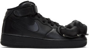 Comme des Garcons Black Nike Edition Air Force 1 Mid 07 Sneakers