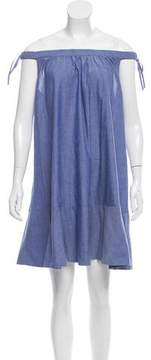 Cynthia Rowley Chambray Off-The-Shoulder Dress w/ Tags