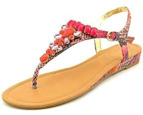 Thalia Sodi Fuerto 1 Women Open Toe Synthetic Pink Thong Sandal.