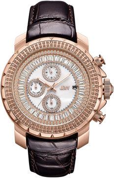 JBW Diamond Mens Brown Strap Watch-J6347l-C