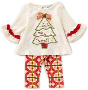 Rare Editions Baby Girls 3-24 Months Christmas Tree Top & Patterned Leggings Set