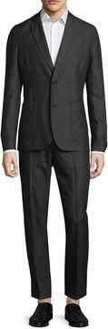J. Lindeberg Men's Hopper Light Linen Notch Lapel Suit