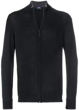 Barba zipped fitted jacket