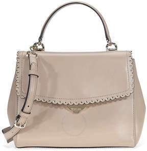 Michael Kors Ava Medium Scalloped Leather Satchel- Truffle - ONE COLOR - STYLE