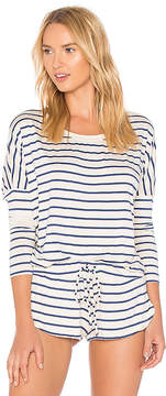 Eberjey Lounge Stripes Slouchy Tee