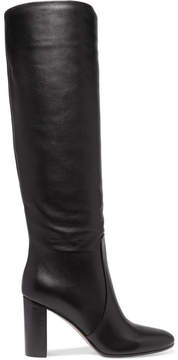 Gianvito Rossi 85 Leather Knee Boots - Black