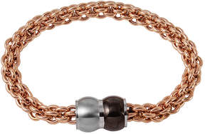 JCPenney FINE JEWELRY Mens Rose Ion-Plated Stainless Steel Braided Chain Bracelet
