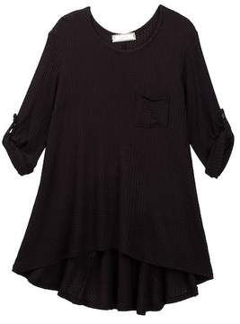 Soprano Tab Sleeve Waffle Knit Tunic (Big Girls)