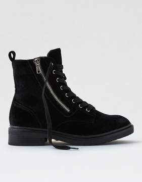 American Eagle Outfitters AE Velvet Lace-Up Bootie