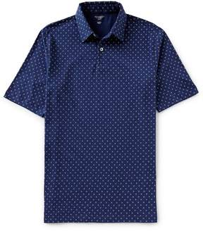 Roundtree & Yorke Trim Fit Short-Sleeve Geo Print Polo