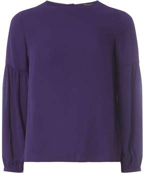 Dorothy Perkins Purple Balloon Sleeve Top