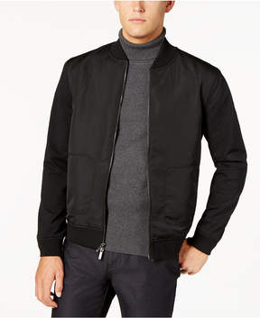 Ryan Seacrest Distinction Men's Modern-Fit Stretch Mixed Media Bomber Jacket, Created for Macy's