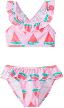 Snapper Rock Girls' Watermelon Ruffle Bikini Set (2T10) - 8155085