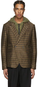 Haider Ackermann Brown Diamonds Blazer