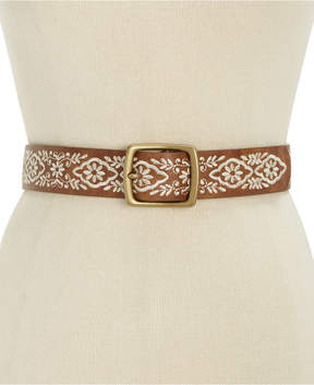 INC International Concepts Floral Embroidered Belt, Created for Macy's