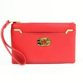Lauren Ralph Lauren Acadia Wristlet Red $78