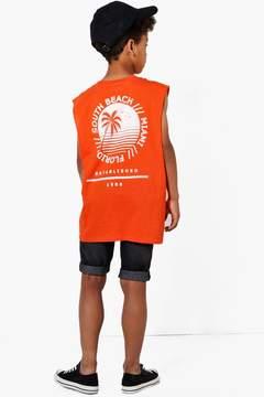 boohoo Boys South Beach Back Print Vest