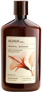Ahava Mineral Botanic Hibiscus & Fig Velvet Cream Wash, 17 oz
