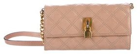 Marc Jacobs Quilted Ginger Wallet On A Chain - PINK - STYLE