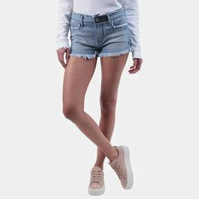 RtA Olivia High Waist Denim Short in Blue Collar