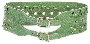 Sonia Rykiel Leather Embossed Waist Belt w/ Tags