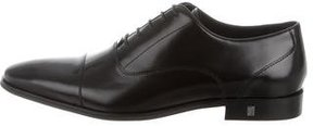 Versace Collection Leather Cap-Toe Oxfords w/ Tags