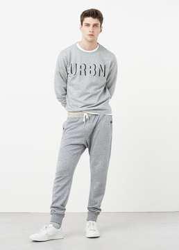 Mango Outlet Plush-cotton jogging trousers